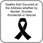 Deaths that Occured at the Address whether by Murder, Suicide, Accidental or Natural